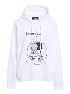 Dsquared2 - Love Is hoodie in white