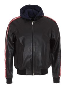 Dsquared2 - Combo leather jacket in balck