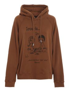 Dsquared2 - Love Is hoodie in brown