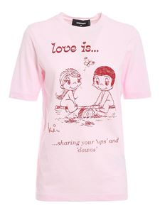 Dsquared2 - T-shirt Love Is rosa
