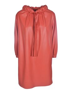 MSGM - Synthetic leather dress in red