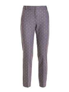 Ermanno Scervino - Shimmering polka dots trousers in grey