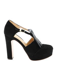 Botti - Fringes pumps in black