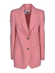 MSGM - Two-buttons jacket in pink