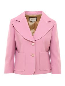 Gucci - Silk and wool blazer in pink