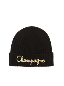 MC2 Saint Barth - Champagne embroidery beanie in black