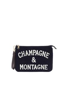 MC2 Saint Barth - Champagne & Montagne clutch bag in blue