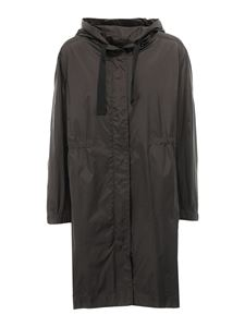Max Mara - Hooded windproof parka in greeen