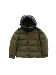 Moncler Jr - Aubrac down jacket in green and blue