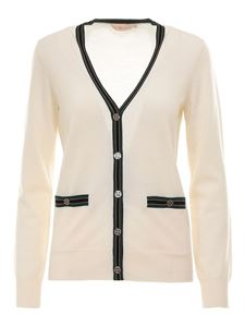 Tory Burch - Merino wool cardigan in white
