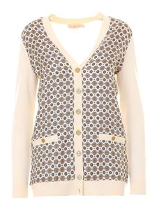 Tory Burch - Silk and wool cardigan in cream color