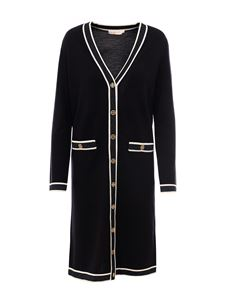 Tory Burch - Merino wool long cardigan in black