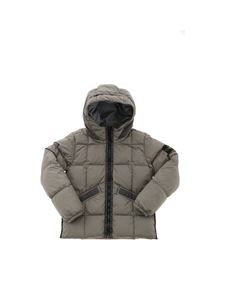 Stone Island Junior - Logo patch down jacket in sage green