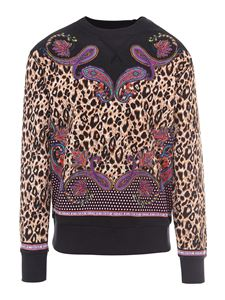 Versace Jeans Couture - Felpa in Paisley animalier nero