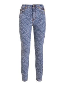 Versace Jeans Couture - Jeans skinny con logo blu