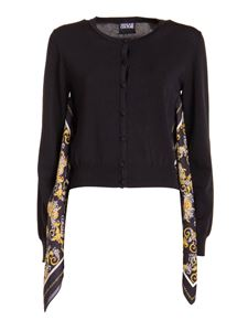Versace Jeans Couture - Cardigan con foulard nero