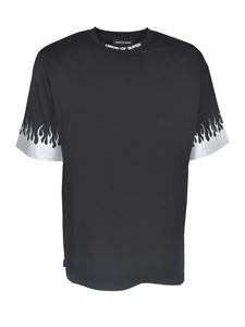 Vision Of Super - T-shirt con stampa fiamme nera