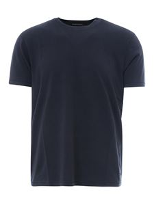 Tom Ford - T-shirt basic in misto cotone blu