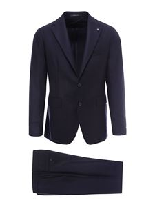 Tagliatore - Super 100' s virgin wool suit in blue
