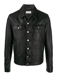 Saint Laurent - Napa leather jacket in black