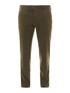 PT Torino - Slim fit trousers in green