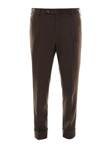 PT Torino - Pantaloni Flicker marrone
