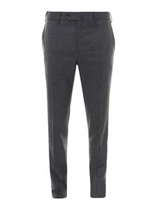 PT Torino - Tailored wool blend trousers in grey