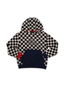 Little Marc Jacobs - Checkered hoodie in black and white