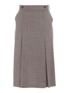 Les Copains - Checked skirt in shades of brown