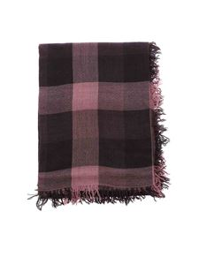 Faliero Sarti - Olisa checked scarf in pink and purple