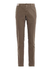 Incotex - Pantaloni Tricochino slim in drill di cotone beige