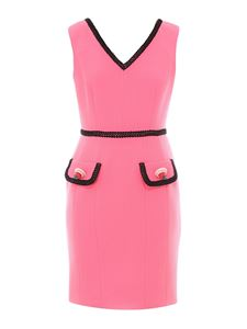 Moschino - Bouclè V neck short dress in pink