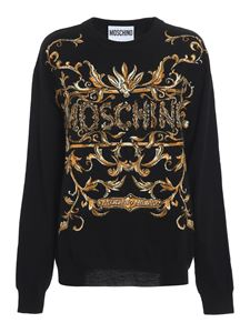 Moschino - Inlaid crewneck sweater in black