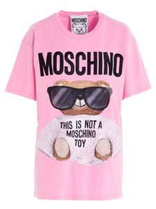 Moschino - T-shirt in cotone rosa