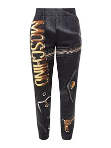 Moschino - Moschino print trousers in black