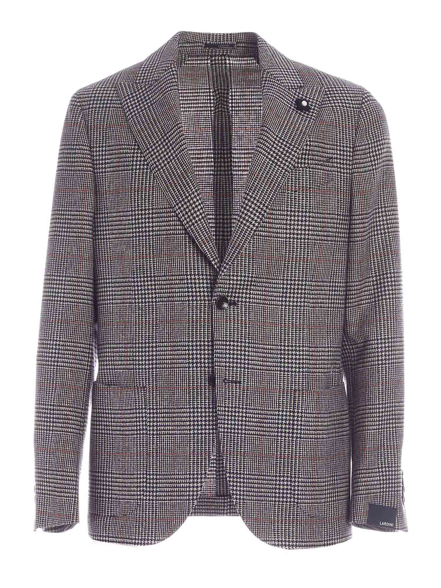 Lardini PRINCE OF WALES CHECK BLUE AND BEIGE JACKET