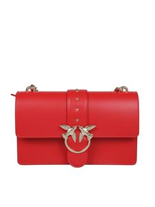 Pinko - Love Simply leather bag in red