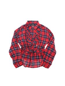 Dsquared2 - Checked blouse in red and blue