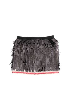 Dsquared2 - Fringes effect skirt in black