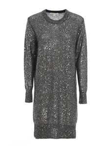 Michael Kors - Metallic effect short dress in silver color