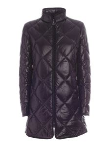 Fay - Ribbed edges down jacket in black