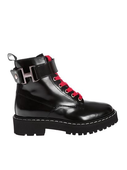 Hogan Fall Winter 20/21 h543 ankle boots in black - HXW5430DG301QAB999