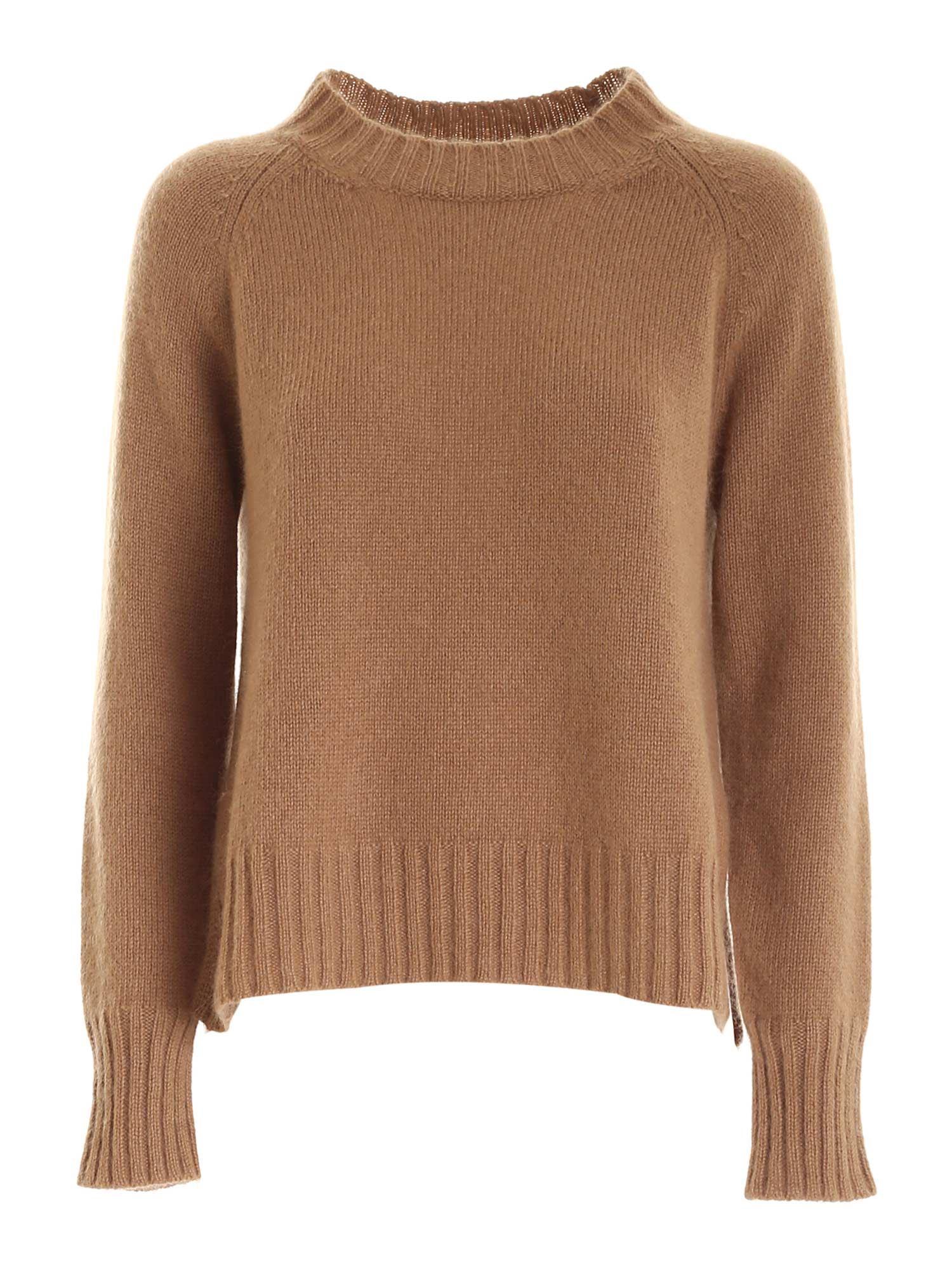 Max Mara CAIO PULLOVER IN CAMEL COLOR