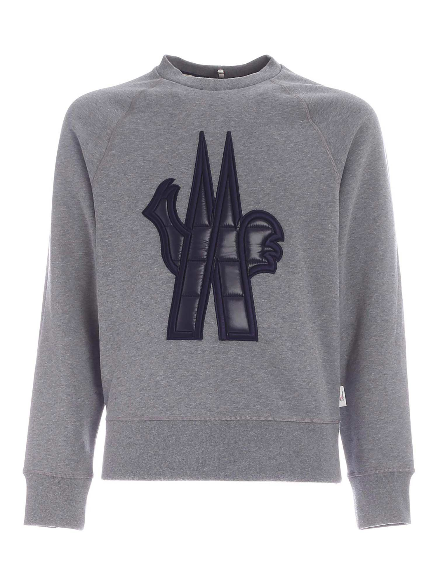 Moncler Grenoble CREWNECK SWEATSHIRT IN GREY
