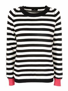 Fay - Striped sweater in black and white