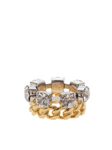 MM6 Maison Margiela - Jewel ring in gold and silver