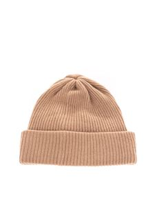 Max Mara - Ribbed beanie in camel color