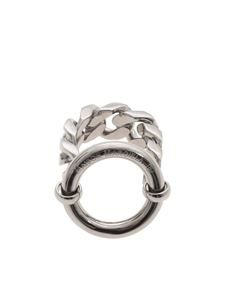 MM6 Maison Margiela - Chain ring in silver