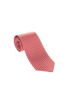 Salvatore Ferragamo - Snails tie in red and light blue