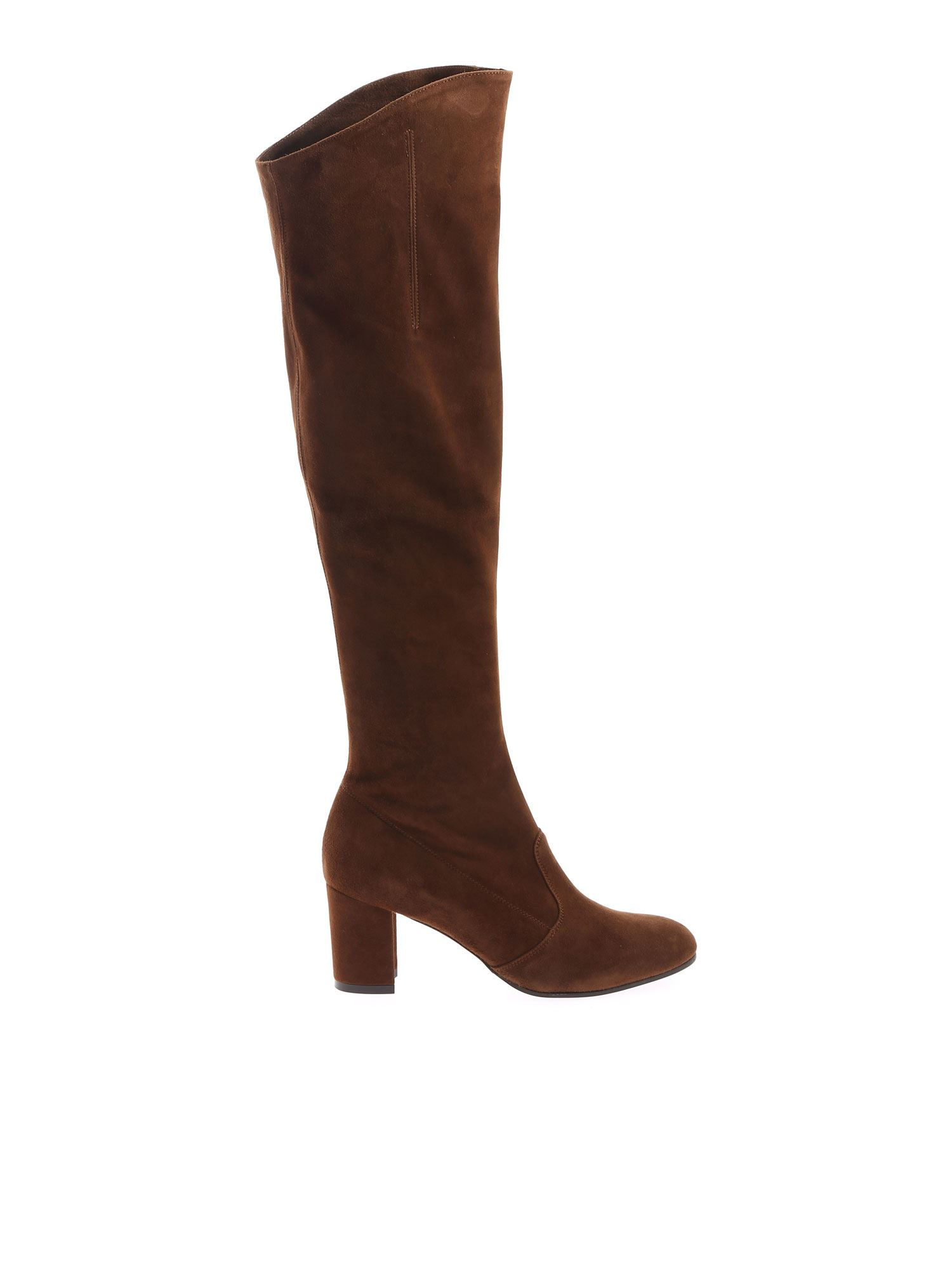 L'autre Chose KNEE-HIGH BOOTS IN BROWN